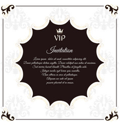 Elegant round postcard for vip invitations with vector