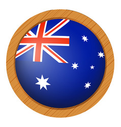 flag icon design for australia vector image