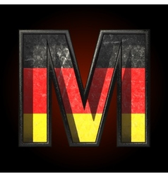 Germany cutted figure m vector