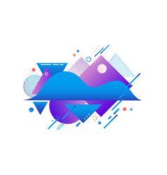 Gradient blue and violet shapes and textures vector
