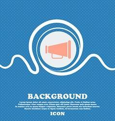 Gramophone web icon sign Blue and white abstract vector image