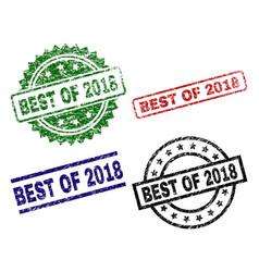 Grunge textured best of 2018 stamp seals vector