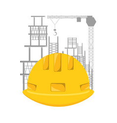 Hard hat under construction concept vector