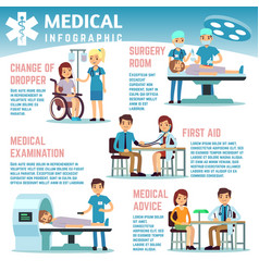 Healthcare infographics with medical staff vector