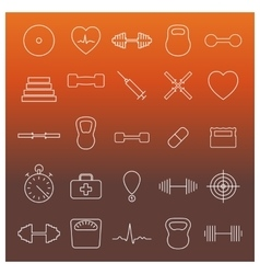 Icons sport and health vector image