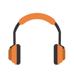 Isolated orange headphones icon imag vector