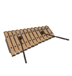Isolated xylophone vector