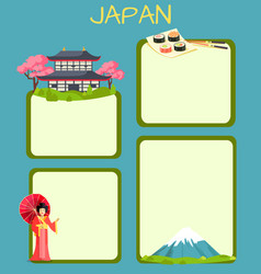 japan touristic concept with copyspace vector image