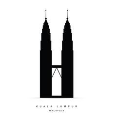 Kuala lumpur icon vector