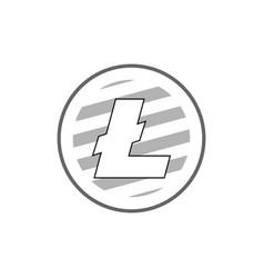 litecoin emblema vector image