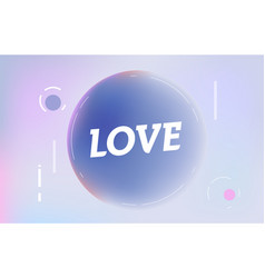 love on in design banner template for web vector image