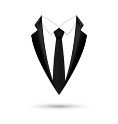 man suit icon isolated background with bow vector image