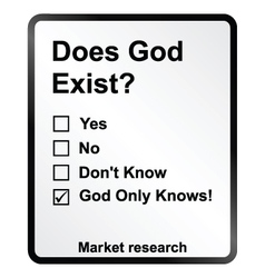 Market Research God Sign vector image