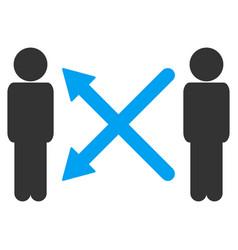 men exchange arrows icon vector image