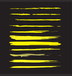 modern textured brush stroke grunge paint stroke vector image
