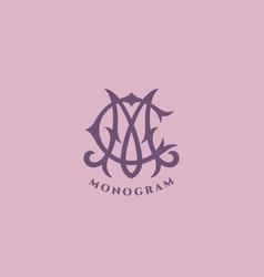 monogram cm vector image