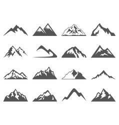 Mountain Shapes For Logos vector image