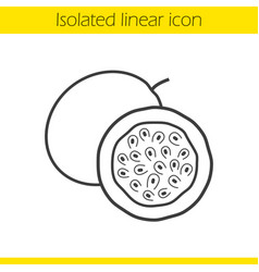 Passion fruit linear icon vector