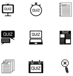quiz icon set vector image