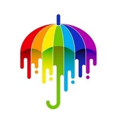 Rainbow umbrella vector