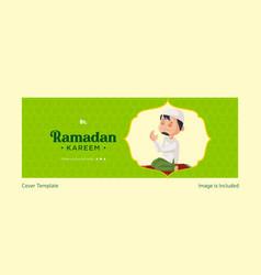 Ramadan kareem cover page design vector