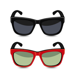 Realistic sunglasses vector