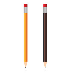 realistic wooden pencils isolated on white vector image