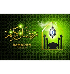 Religious green color eid background design vector