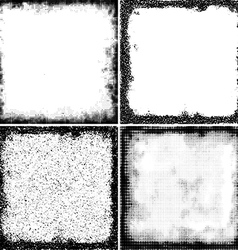 Retro Halftone Frames vector