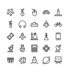 science and technology line icons 15 vector image