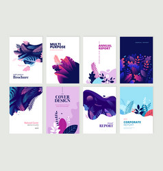 Set of brochure and annual report design templates vector