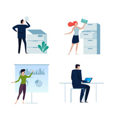 set of business people or office workers man and vector image