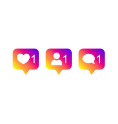 social media instagram modern like 1 follower 1 vector image