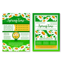 Springtime holidays celebration poster template vector