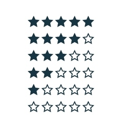 Stars Rating Kit vector image