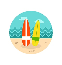 Surfboard icon Summer Vacation vector