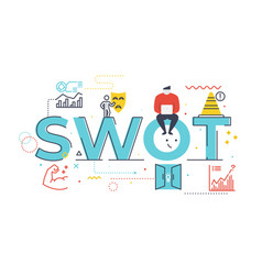 swotstrengths weaknesses opportunities and vector image