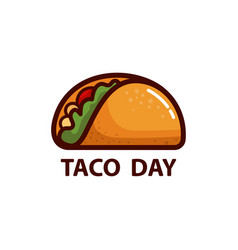 taco icon or logo concept vector image