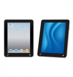 touchscreen tablet computer vector image