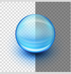 translucent soft gel capsule eps 10 vector image