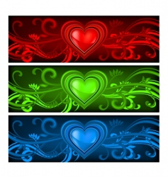 tricolored valentine background vector image