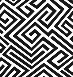 black labyrinth seamless pattern vector image vector image