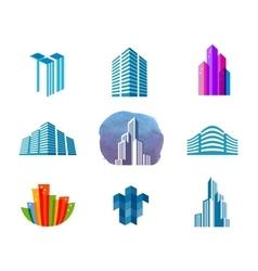 house logo design template city or vector image