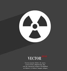 radiation icon symbol Flat modern web design with vector image