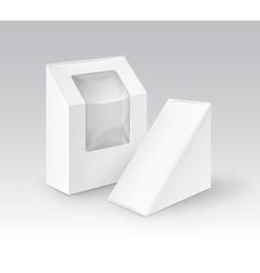 Set of cardboard take away packaging box vector