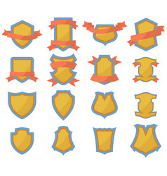 set of shields logo vector image