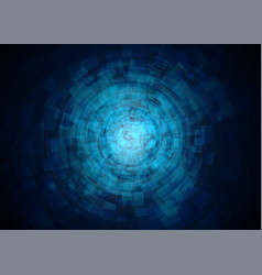 abstract technology tunnel vector image vector image
