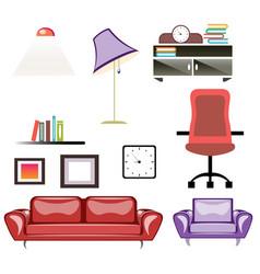 big apartment furniture set vector image