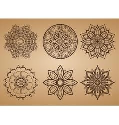 Flower Round Pattern vector image
