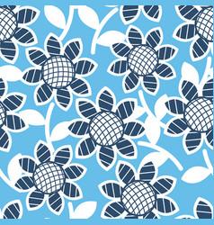 sunflowers seamless pattern vector image